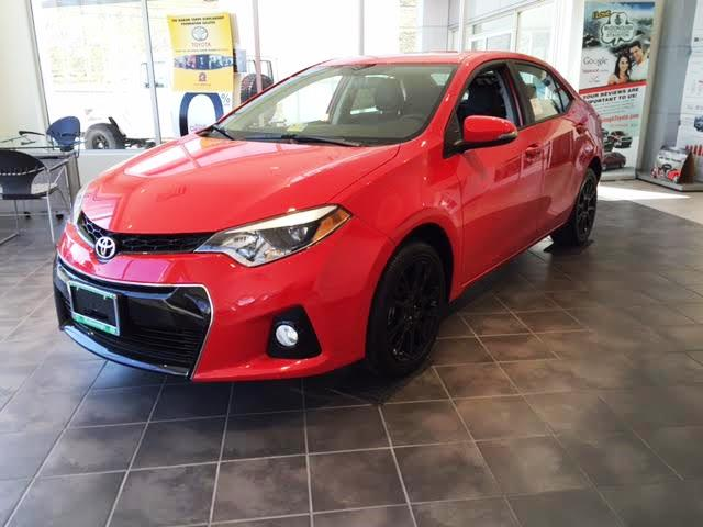 all their friends love their new corollas natalie campbell with her white 2016 toyota corolla. Black Bedroom Furniture Sets. Home Design Ideas