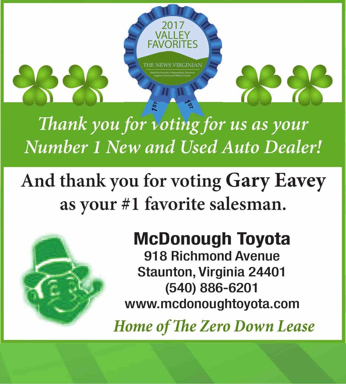 Valley Favorite #1 New and Used Car dealer - McDonough Toyota Blog