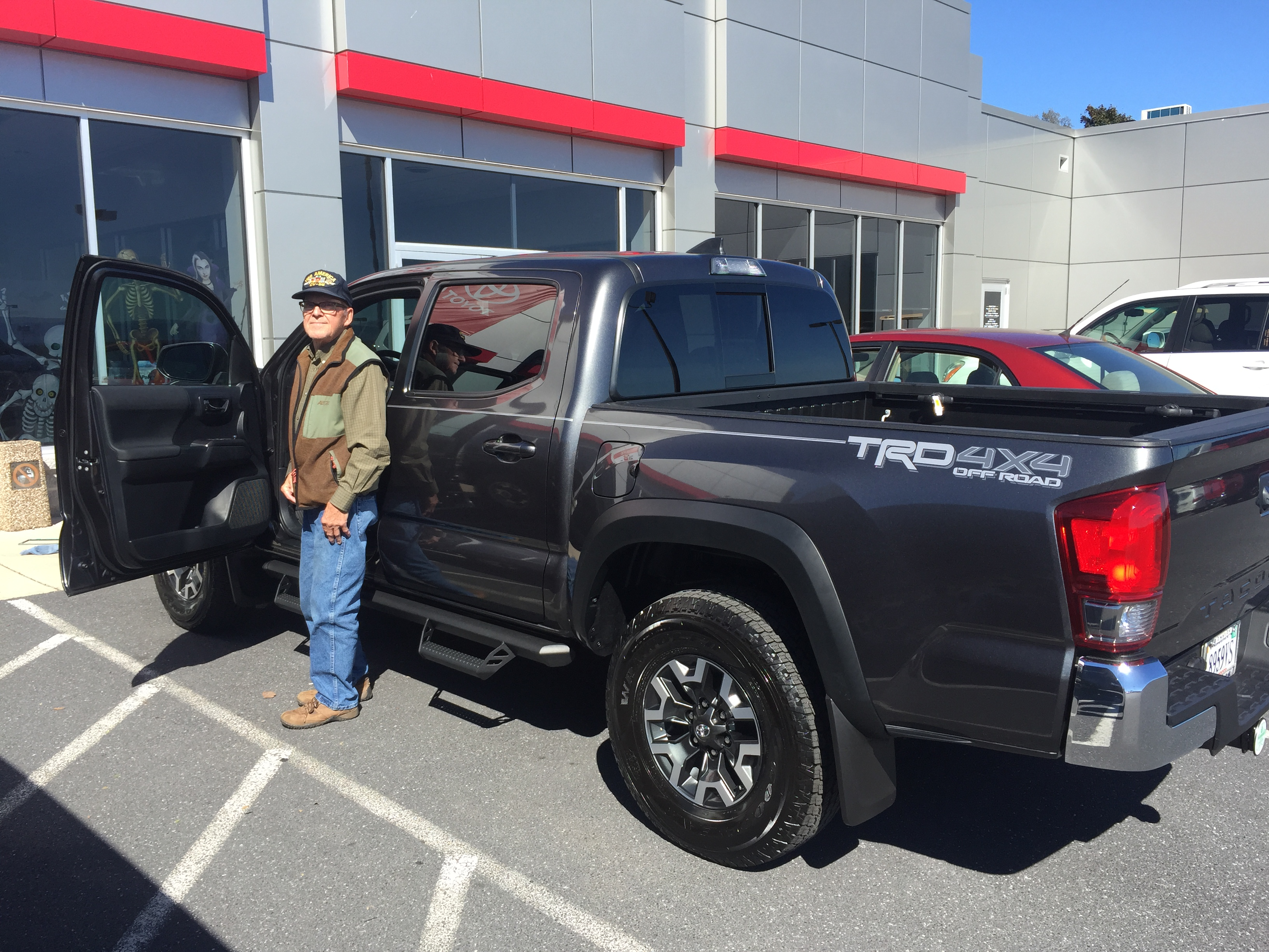Navy Veteran George Adrian with his new 2017 #Tacoma Congratulations ...